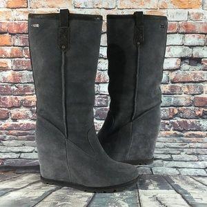 UGG Genuine Sheepskin Wedge Tall Boots Size 8.5